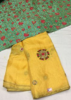 Lenin Georgette Silk Saree with Designer blouse