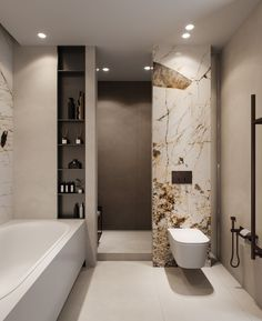 Design, determination, and DIY recommendations for remodeling your bathroom on a budget. Awesome DIY home projects, motivation for your house, and cheap remodeling tips for the master bathroom. Best Bathroom Designs, Bathroom Design Luxury, Modern Bathroom Design, Luxury Interior Design, Bathroom Ideas, Bathroom Organization, Bath Ideas, Bathroom Storage, Dream Bathrooms