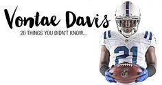 @NFLColts cornerback Vontae Davis is about to check one thing off his bucket list. And soon! Like, tomorrow. #Colts #OneTeam #20Things