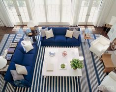 Amazing striped living room!
