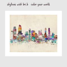 san diego california skyline colorful modern pop by oxleystudio
