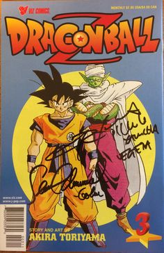 Dragonball Z Part 1, #3, by Viz. Signed in-person by Christopher Sabat (voice actor for Piccolo) at Mall of American, signed in-person by Sean Schemmel June 4, 2017 at  Wizard World Con.