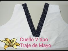 Como Hacer Cuello en V Traje de Mayo - YouTube Sewing Stitches, Sewing Patterns, Sewing Collars, Pearl Embroidery, Pola Lengan, Shirt Tutorial, Afghan Dresses, Neck Pattern, Sewing Hacks