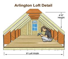Shed loft dimensions