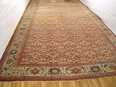"Persian: Floral 23' 0"" x 15' 3"" Antique Sultanabad at Persian Gallery New York - Antique Decorative Carpets & Period Tapestries"