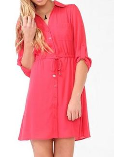 Adorable shirt dress. <3 Ordered!