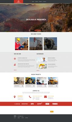 Moto CMS 3 Theme , Industrial