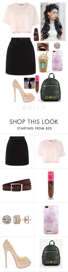"""""""Emily"""" by emilyramme ❤ liked on Polyvore featuring rag & bone, adidas, Montblanc, Jeffree Star, Diamond Splendor, iDeal of Sweden and Christian Louboutin"""
