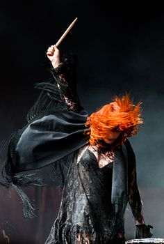 The drumming Girl      by Sebastian-Alexander Stamatis      From Florence + the Machine at Roskilde Festival 2010