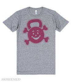 kettlebell crossbones  Printed on Skreened T-Shirt