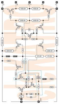 yamaKATRO driver Amplifier 32VAC Bass OK - eleKATRO Electronics Basics, Electronics Components, Hifi Amplifier, Electronic Schematics, Circuit Diagram, Bluetooth Speakers, Bass, Backyard, Crafts