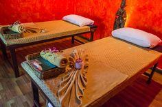 The romantic massage room at Zabai Thai in Chiang Mai.