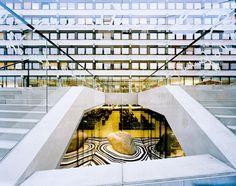 University and Regional Library Innsbruck in Innsbruck, Austria Innsbruck, Austria, Public, Stairs, Europe, Education, Interior Design, Architecture, Regional