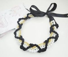 See what Accessories Maria (HMWithStyle) found on We Heart It, your everyday app to get lost in what you love. Handmade Necklaces, Crochet Necklace, Ribbon, Style Inspiration, Facebook, Chain, Accessories, Jewelry, Fashion