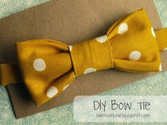 Bow Tie tutorial by Jessica Larae of Swenson Love #diy #sew #easter---- I think this would make a very CUTE clutch!!