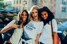 Cindy Bruna, Manuela Frey and Imaan Hammam in New York – ModelsJam