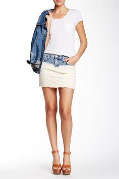 f9f4f2ba3 The Cut-Off Mini Denim Skirt by Current/Elliott on @nordstrom_rack White  Denim