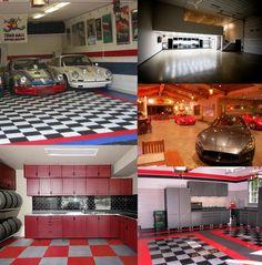 Home Interior, Homey Garage Interior Design: Garage Collage Interior Design