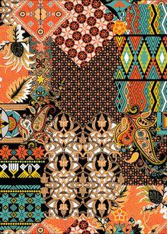 Textiles, Textile Patterns, Textile Design, Fabric Design, Print Patterns, Print Design, Mehndi, Henna, Wall Art Designs