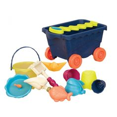 Utazó homokozó strandkocsi - tengerész, Wavy Wagon Beach Set 18 hónapos kortól - B. Sand And Water, Water Play, Kids Sandbox, Sand Toys, Outdoor Activities For Kids, Beach Toys, Hand Molding, Kit, Science Projects