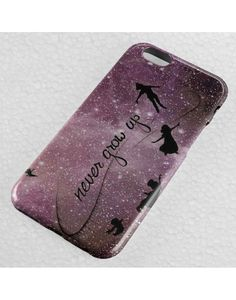 Peter Pan Disney Quote Never Grow Up iPhone Case, iPhone 5-5S-5C-SE, iPhone 6-6S Plus Case, Galaxy Note Case, Samsung Galaxy Case Other, HTC, Other Cases.