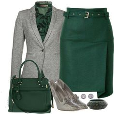 green and grey...interesting