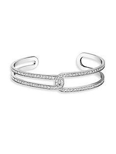Piaget Possession Open Cuff Bracelet with Diamonds in 18K White Gold dqcDIwQ0b