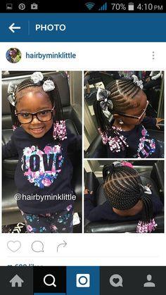 Braids #ponytails #beads #cornrows