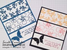 Card using new InColors 2016-2018 Stampin' Up! - YouTube