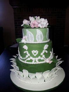 """Leaves"" wedding cake"