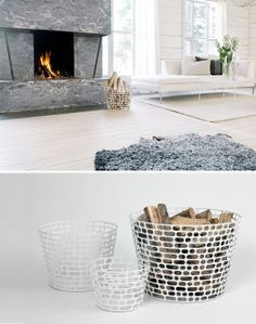 Next wood basket from Asplund's