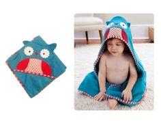 Cute Baby Child Toddler Girl Boy Cartoon Owl Shaped Bathrobe Hooded Bath Towel Washcloth
