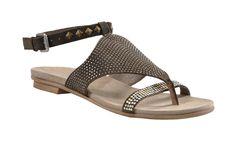 Janet & Janet MORFEO Sandalen 243000 oliv Leder - Damenschuhe im Online-Shop von GISY Schuhe