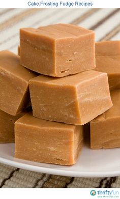 This page contains cake frosting fudge recipes. A quick and easy way to make fudge begins with a tub of cake frosting.