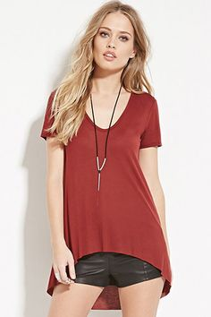 Scoop-Neck Tee | Forever 21 - 2000150119