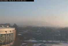 Almost a hazy appearance to the sky – looking toward Mt. Nittany from PSU. Appear to be ice crystals! Ryan Breton @RyanBretonWX