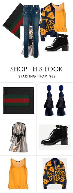 """Untitled #72"" by andzelika-niklewicz on Polyvore featuring Gucci, Oscar de la Renta, Dsquared2, Paul Smith and Balmain"