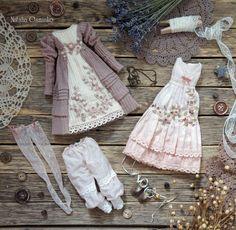 Купить Комплект одежды для текстильной куклы Маргарита - серый, белый, одежда для кукол, одежда для куклы