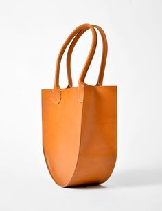 Sara Barner russell leather round bottom tote at Bird : ShopBird.com