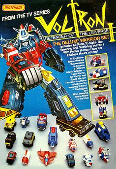 Vehicle Voltron - I played for hours with my little brother's set.