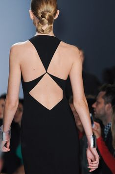 Michael Kors black dress back -- perfection.