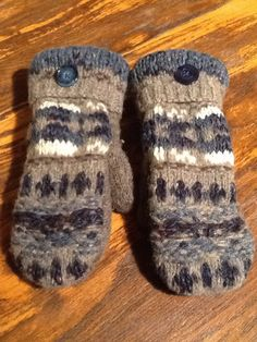 A personal favorite from my Etsy shop https://www.etsy.com/listing/221485963/beautiful-wool-sweater-mittens-handmade