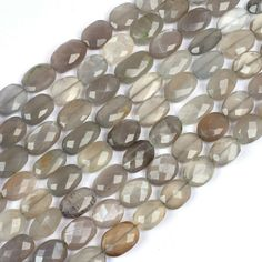 Natural White Moonstone Marquise Faceted Briolettes 8 inch strand 1 strand 8x12 mm approx size