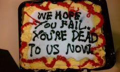 24 Brutally Honest Cakes We Can All Relate To Take The Cake, Love Cake, Going Away Cakes, Cakes Gone Wrong, Farewell Cake, Ugly Cakes, Bad Cakes, Birthday Cake Writing, Cake Lettering