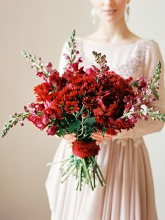 Букет невесты. Хризантемы. Пионы. Фотограф: Роман Иванов