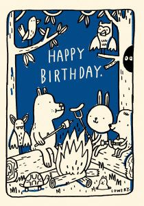 Roger la Borde | Petite Birthday Campfire Card by Mike Lowery