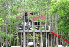 Treehouse in Durham, Canada. An absolutely gorgeous treehouse retreat & additional cabin nestled on 100 acres. Enjoy gorgeous walks, lounge by the pool or relax in the beautiful hammocks. Find more info on Design The Life You Want To Live blog by Lynne Knowlton.  This one of ...