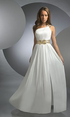 Absolutely love this. Celebrity Style One Shoulder Dress by Shimmer at PromGirl.com