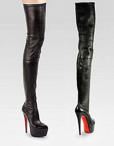 christian louboutin monicarina over-the-knee leather platform boot black