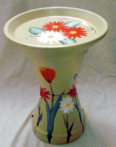 Idea of feeder for blue jay … peanuts …. - All About Terracotta Flower Pots, Clay Flower Pots, Clay Pots, Flower Pot People, Clay Pot People, Flower Pot Art, Flower Pot Crafts, Clay Pot Projects, Clay Pot Crafts